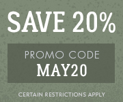 Save with promo code MAY20